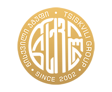Tsiskvili Group round Logo with ornamented text